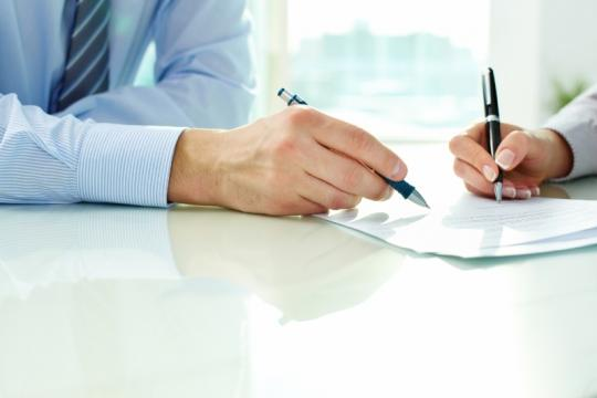 Signing confidentiality agreement