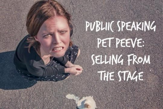 Stop selling from the stage